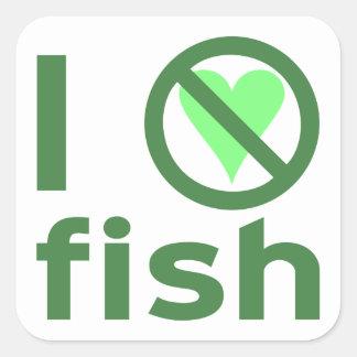 I Hate Fish Square Sticker