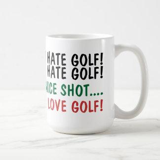 I Hate Golf! I Love Golf! Basic White Mug