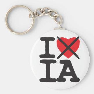 I Hate IA - Iowa Key Ring