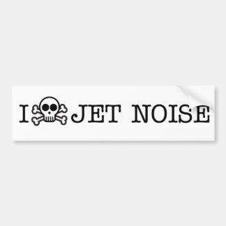 I Hate Jet Noise Bumper Sticker