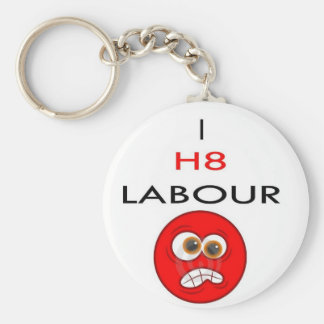 I hate labour key ring