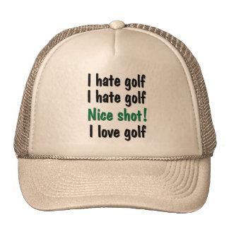 I Hate - Love Golf Hat