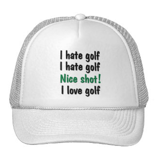 I Hate - Love Golf Hats