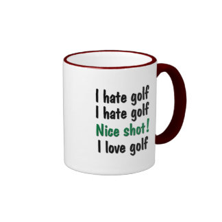 I Hate - Love Golf Coffee Mug