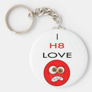 I hate LOVE Key Ring