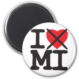 I Hate MI - Michigan Refrigerator Magnet