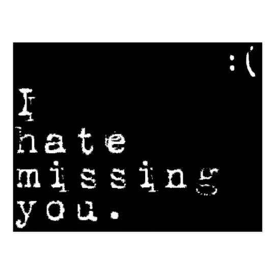 I Hate Missing You-But I Love Having You