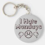 I Hate Mondays Basic Round Button Key Ring