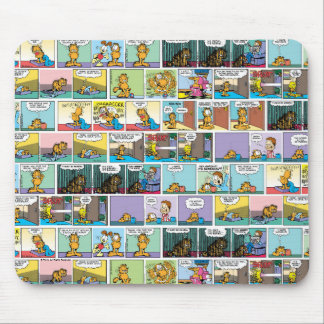 """I Hate Mondays"" Garfield Comic Strip Mouse Mat"
