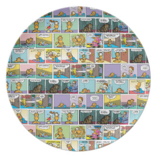 """I Hate Mondays"" Garfield Comic Strip Plate"