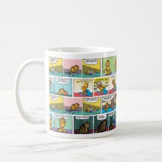 """I Hate Mondays"" Garfield Comic Strips Basic White Mug"