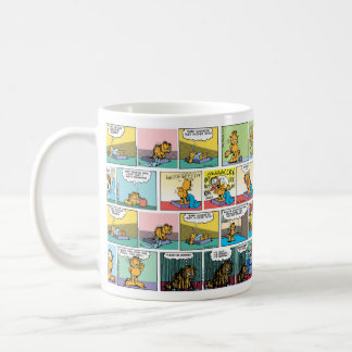 """I Hate Mondays"" Garfield Comic Strips Coffee Mug"