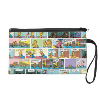 """I Hate Mondays"" Garfield Comic Strips Wristlet Purse"