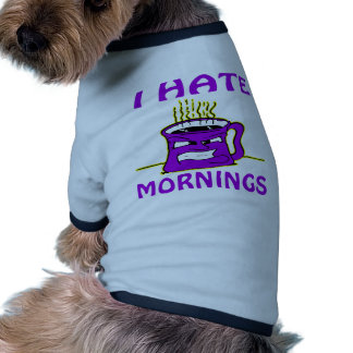I Hate Mornings Angry Coffee Cup Dog T Shirt