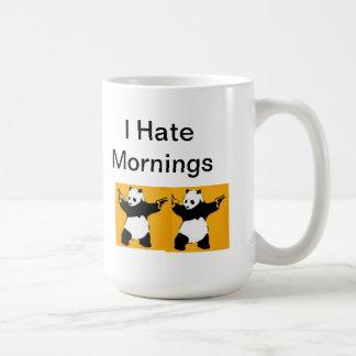 i hate mornings basic white mug