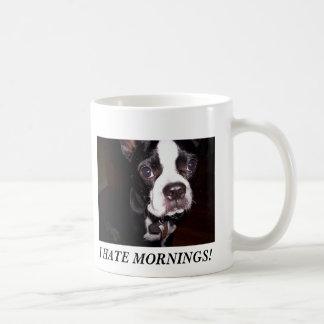 I HATE MORNINGS! BASIC WHITE MUG