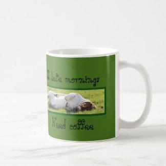"""I Hate Mornings"" Coffee Mug w/Basset Hound"