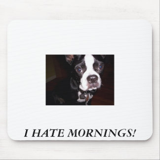 I HATE MORNINGS! MOUSE PAD