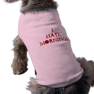 I hate mornings sleeveless dog shirt