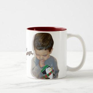 I hate mornings, too (coffee mug) Two-Tone mug