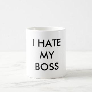 I HATE MY BOSS BASIC WHITE MUG