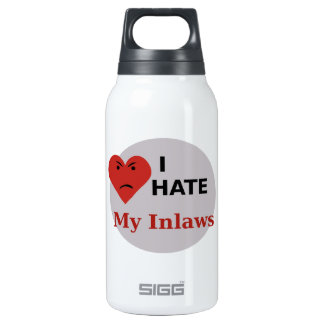 I Hate My Inlaws Insulated Water Bottle