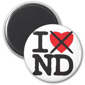 I Hate ND - North Dakota Refrigerator Magnets