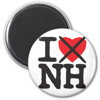 I Hate NH - New Hampshire 6 Cm Round Magnet