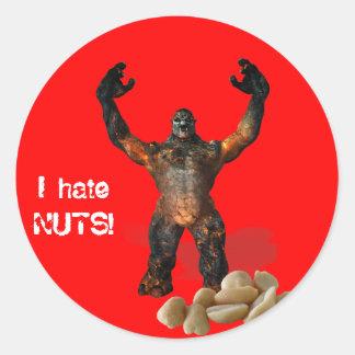 I hate NUTS! Round Sticker