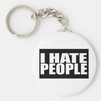 I HATE PEOPLE BASIC ROUND BUTTON KEY RING