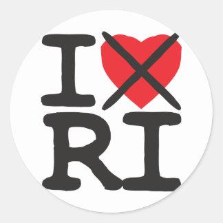 I Hate RI - Rhode Island Classic Round Sticker