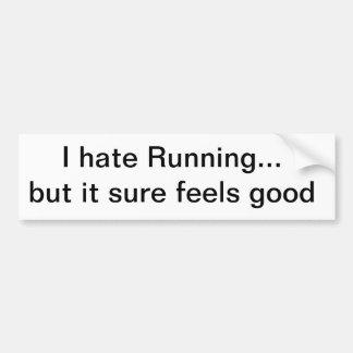I hate Running Bumper Sticker