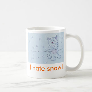 I hate snow! basic white mug