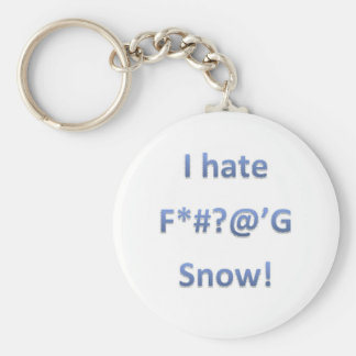 I Hate Snow Style 1 Key Ring