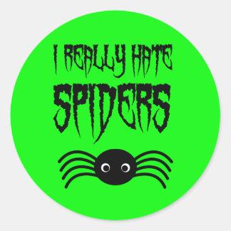 I hate Spiders Classic Round Sticker
