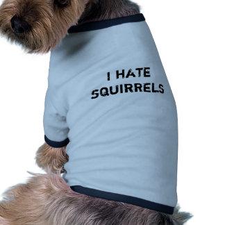I hate squirrels ringer dog shirt