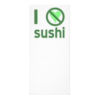 I Hate Sushi Customised Rack Card