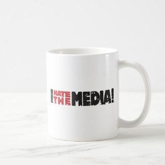 I Hate The Media logo Basic White Mug