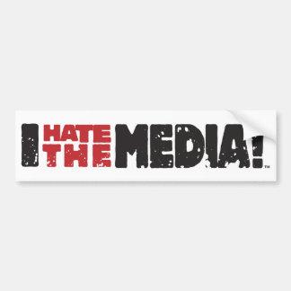 I Hate The Media logo Car Bumper Sticker