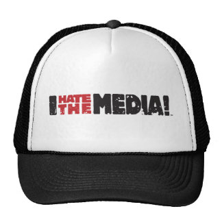I Hate The Media logo Cap