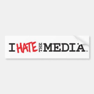 I Hate the Media (red hate) Bumper Sticker Car Bumper Sticker