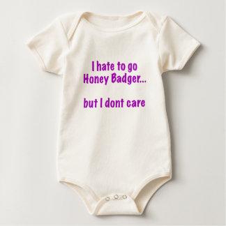 I Hate to Go Honey Badger... But I Dont Care Baby Bodysuit