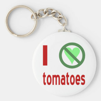 I Hate Tomatoes Basic Round Button Key Ring