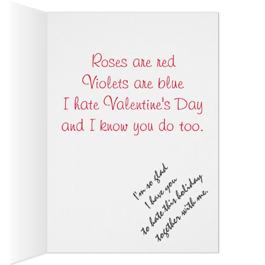 I hate Valentine's Day, But I Like You Card