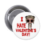 i hate valentines day emo punk girl badge