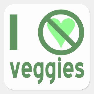 I Hate Veggies Square Stickers