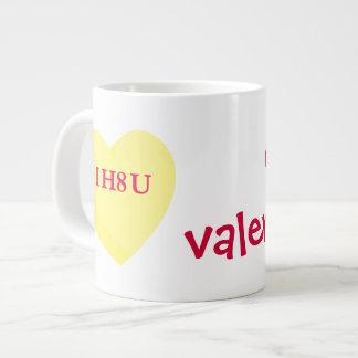 I Hate You and Valentine's Day Too Jumbo Mug