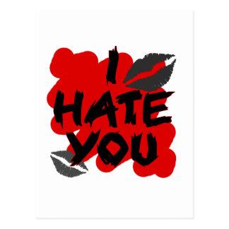 i hate you postcard