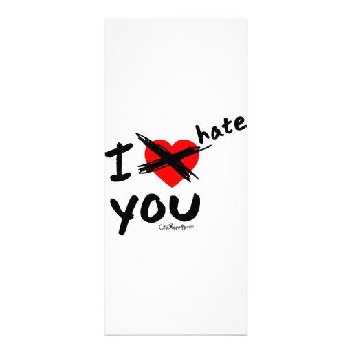 I hate you custom rack cards