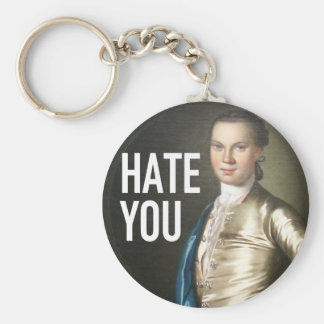 I Hate You - Trendium Art Captions Basic Round Button Key Ring